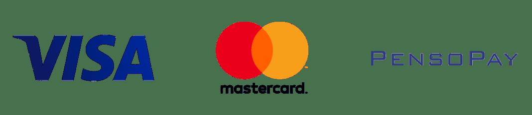 På vores webshop kan du betale med VISA og Mastercard